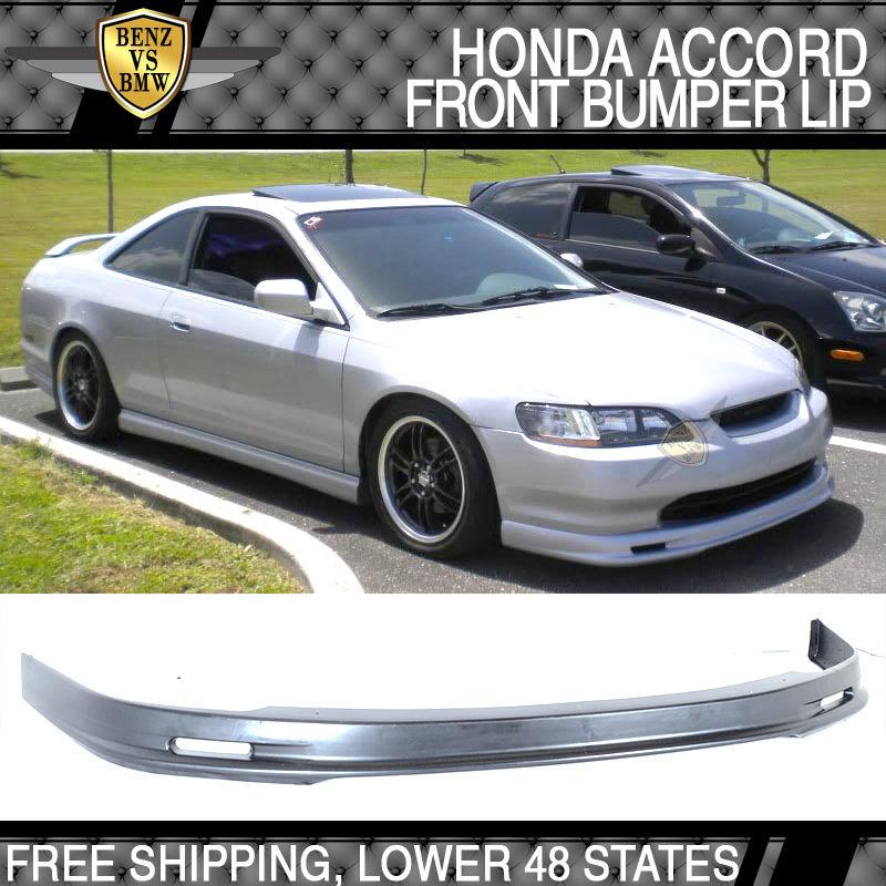 USパーツ 98-00ホンダアコード2ドアクーペミュゲスタイルフロントバンパーリップスポイラーPU For 98-00 Honda Accord 2 Door Coupe Mugen Style Front Bumper Lip Spoiler PU