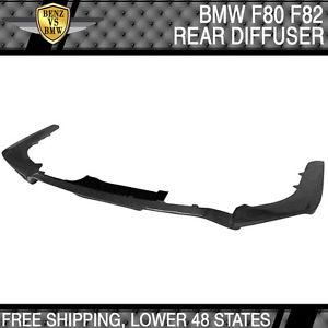 USパーツ 14-17 BMW F80 M3 F82 M4 JPMスタイルリアバンパーリップディフューザー - カーボンファイバー 14-17 BMW F80 M3 F82 M4 JPM Style Rear Bumper Lip Diffuser - Carbon Fiber