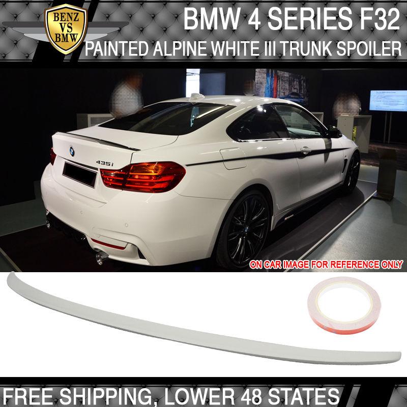 USパーツ USA Stock 14-17 BMW 4シリーズF32トランク・スポイラー・ペイントアルパイン・ホワイトIII#300 USA Stock 14-17 BMW 4 Series F32 Trunk Spoiler Painted Alpine White III #300