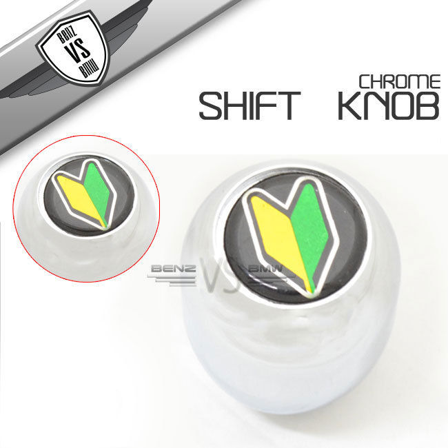 USパーツ Chrome Integra T-RシフトノブJDM若葉ドライバーバッジ初心者 Chrome Integra T-R Shift Knob JDM Wakaba Driver Badge Beginner