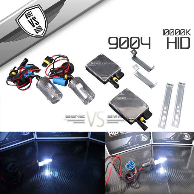USパーツ ビジョンHI LOwデュアルビームACバラストHID変換キット9004ヘッドライト10000k Vision HI LOw Dual Beam AC Ballasts HID Converion Kit 9004 Headlights 10000k