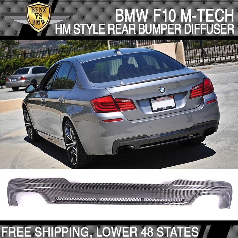 USパーツ 11-16 BMW F10 F11 M-Tech MスポーツHMスタイルリアバンパーディフューザーカーボンファイバーCF 11-16 BMW F10 F11 M-Tech M Sport HM Style Rear Bumper Diffuser Carbon Fiber CF