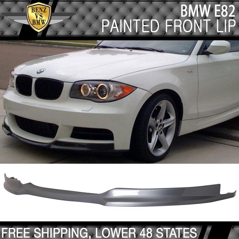USパーツ 07-13 BMW 1シリーズE82 MスポーツMtech塗装#A52スペースグレーメタリックフロントリップ 07-13 BMW 1 Series E82 M Sport Mtech Painted #A52 Space Gray Metallic Front Lip
