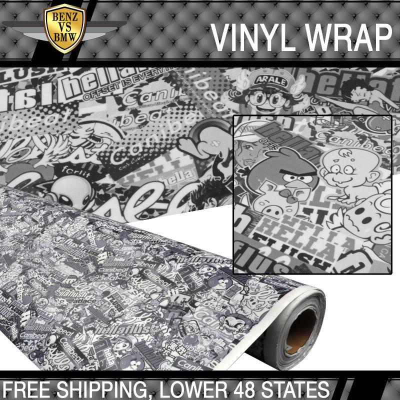 USパーツ 日産フィット15x59インチステッカー爆弾漫画カービニールラップカスタムヘラフラッシュ Fit For Nissan 15x59 Inch Sticker Bomb Cartoon Car Vinyl Wrap Custom Hella Flush