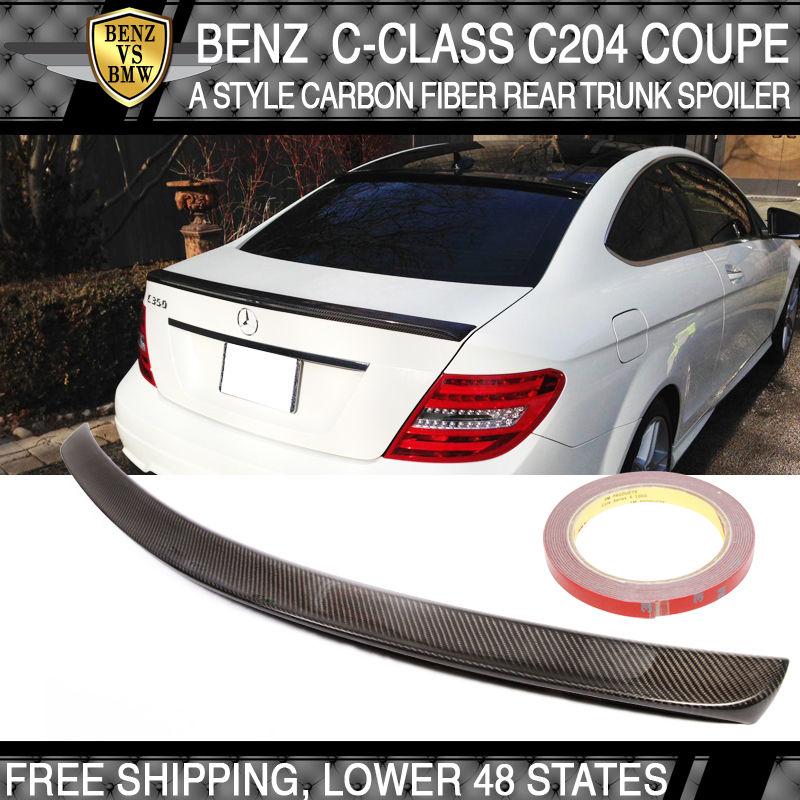 USパーツ 11 12 13 14ベンツCクラスC204 2Dr AMGスタイルトランク・スポイラー - 炭素繊維CF 11 12 13 14 Benz C-Class C204 2Dr AMG Style Trunk Spoiler - Carbon Fiber CF