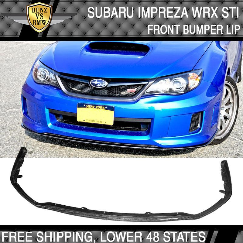 USパーツ フィット11?14スバルインプレッサWRX STIスタイルフロントバンパーリップカーボンファイバーCF Fits 11-14 Subaru Impreza WRX STI Style Front Bumper Lip Carbon Fiber CF