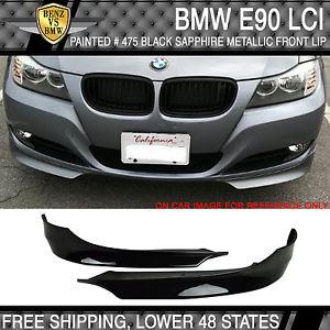 USパーツ USAストック09-11 BMW E90 Lci PPフロントリップペイント#475ブラックサファイアメタリック USA Stock 09-11 BMW E90 Lci PP Front Lip Painted # 475 Black Sapphire Metallic