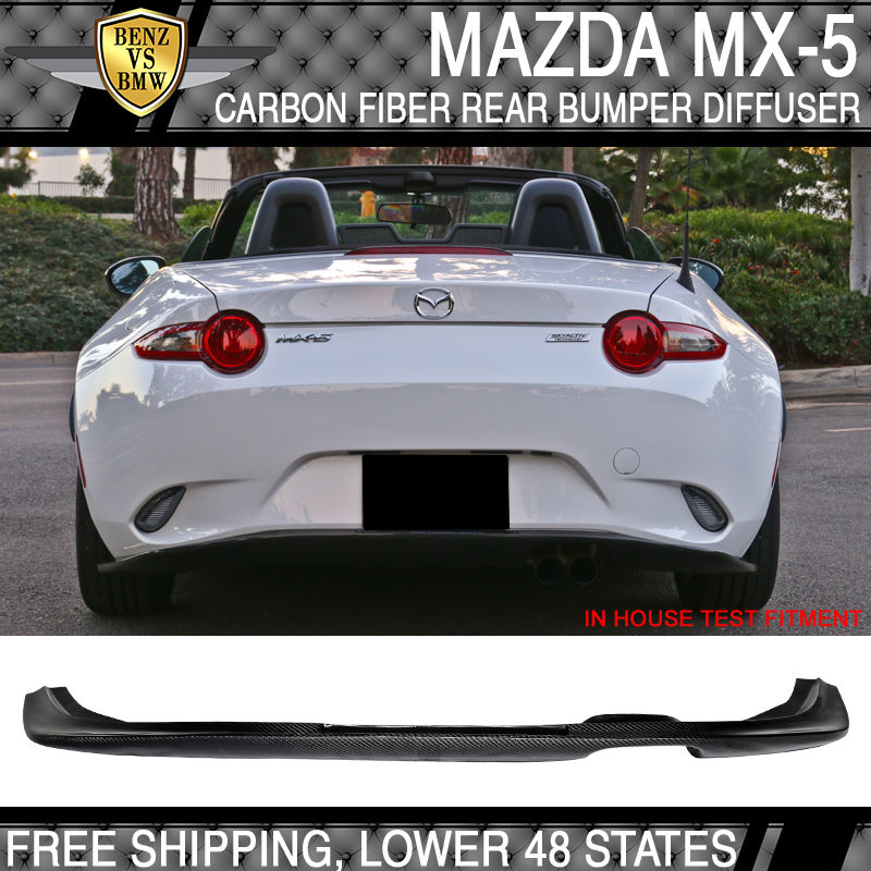 USパーツ 15-17マツダMX-5 Miata ND5RC CSリアバンパーディフューザーカーボンファイバーCF 15-17 Mazda MX-5 Miata ND5RC CS Rear Bumper Diffuser Carbon Fiber CF