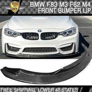 USパーツ 15-17 BMW F80 M3 F82 F83 M4 Jスタイルフロントバンパーリップ - カーボンファイバー 15-17 BMW F80 M3 F82 F83 M4 J Style Front Bumper Lip - Carbon Fiber