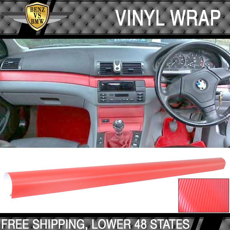 USパーツ 12X60インチの3Dスタイル赤い炭素繊維テクスチャビニールラップステッカーデカールフィルムシート 12X60 Inch 3D Style Red Carbon Fiber Texture Vinyl Wrap Sticker Decal Film Sheet