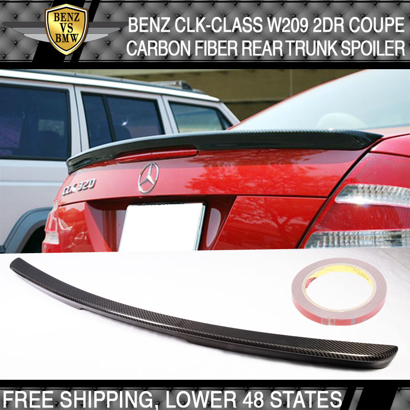 USパーツ 03-08ベンツCLKクラスW209 2Dr AMGトランク・スポイラー - 炭素繊維CF 03-08 Benz CLK-Class W209 2Dr AMG Trunk Spoiler - Carbon Fiber CF