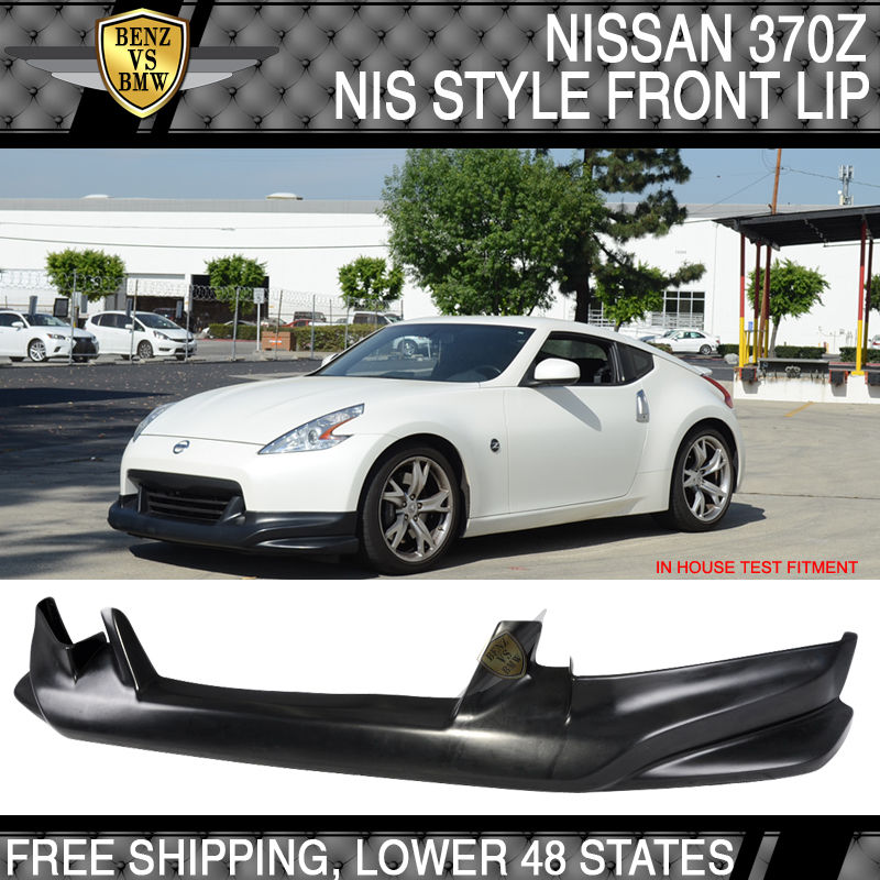 USパーツ Fit For 09 09 10-12 Nissan 370Z Nスタイルフロントバンパーリップスポイラーボディキットウレタン Fit For 09 10-12 Nissan 370Z N Style Front Bumper Lip Spoiler Bodykit Urethane