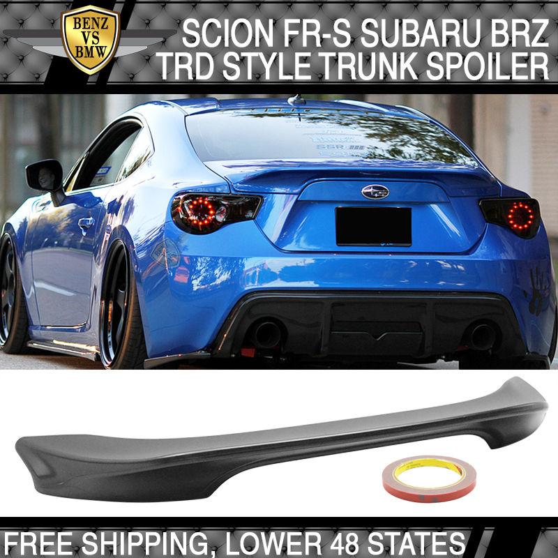 USパーツ 13 14 15 16 17サイオンFR-S GT86 TR-DスタイルリアトランクリップスポイラーウィングABS For 13 14 15 16 17 Scion FR-S GT86 TR-D Style Rear Trunk Lip Spoiler Wing ABS
