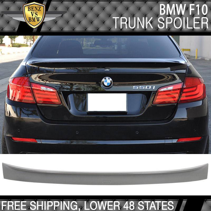 USパーツ 11-16 BMW F10 528i 5シリーズリアABSトランク・スポイラー・ウイング無塗装 11-16 BMW F10 528 5-Series Rear ABS Trunk Spoiler Wing Upainted