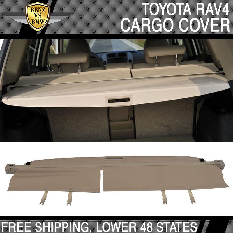 USパーツ 06-12 Toyota RAV4 OE FACTORYリトラクタブルリアカーゴセキュリティトランクカバーベージュ 06-12 Toyota RAV4 OE FACTORY Retractable Rear Cargo Security Trunk Cover Beige