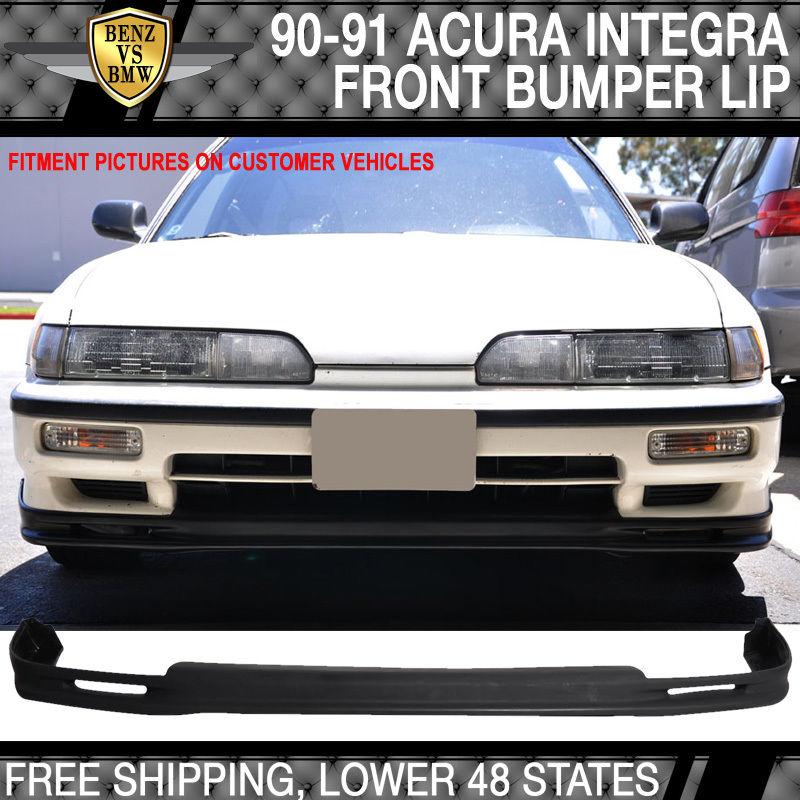 USパーツ 90-91用Acura Integra Mugenスタイルフロントバンパーリップスポイラーボディキットウレタン For 90-91 Acura Integra Mugen Style Front Bumper Lip Spoiler Bodykit Urethane