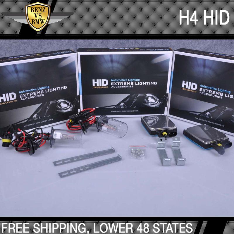 USパーツ ビジョンHID変換キットH4ハイロー6000k 35ワットデジタルバラスト(ペア) Vision HID Conversion Kit H4 High Low 6000k 35watt Digital Ballast(Pair)
