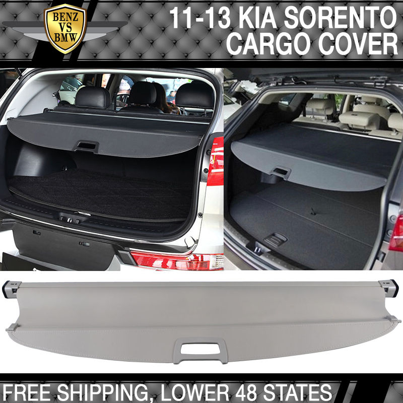 USパーツ 11?15キロソレントOE開閉式後部貨物セキュリティトランクカバーベージュ Fit For 11-15 Kia Sorento OE Retractable Rear Cargo Security Trunk Cover Beige