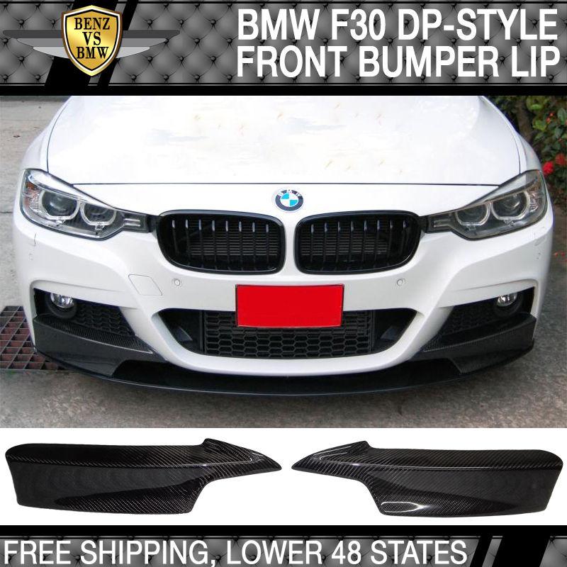 USパーツ 12-16 BMW F30 F31 M-Tech& M-Sport DPスタイルフロントバンパーリップ2PCカーボンファイバーCF 12-16 BMW F30 F31 M-Tech & M-Sport DP Style Front Bumper Lip 2PC Carbon Fiber CF