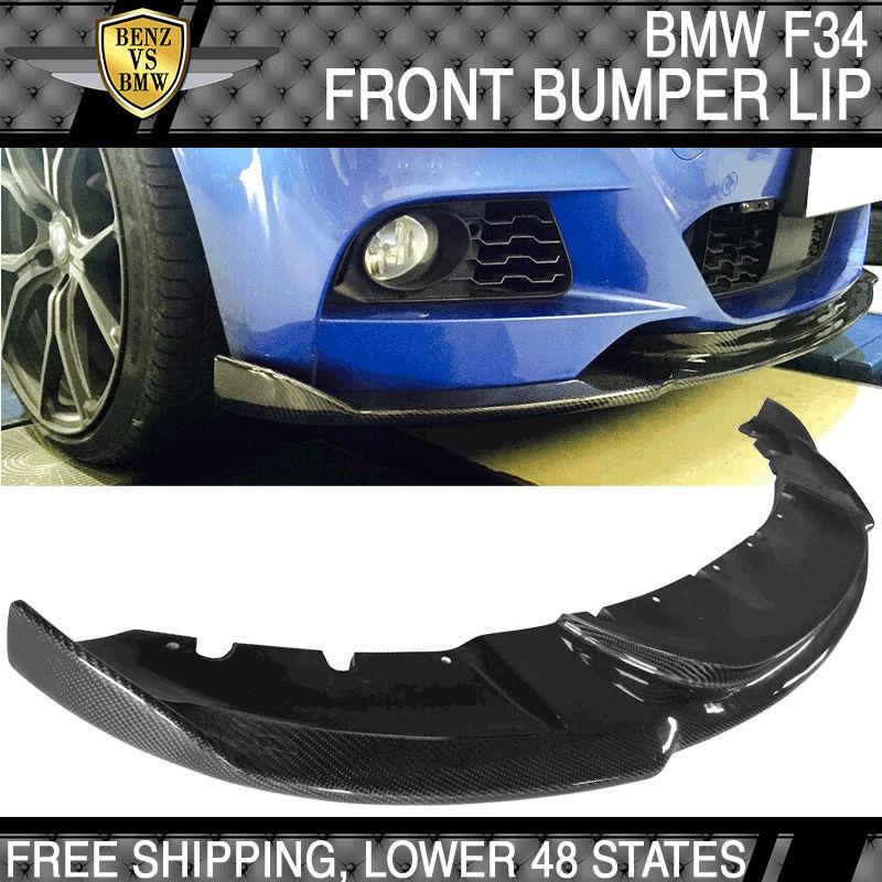 USパーツ 14-16 BMW F34 3シリーズM-Tech MスポーツHMタイプフロントバンパーリップカーボンファイバーCF 14-16 BMW F34 3-Series M-Tech M Sport HM Type Front Bumper Lip Carbon Fiber CF