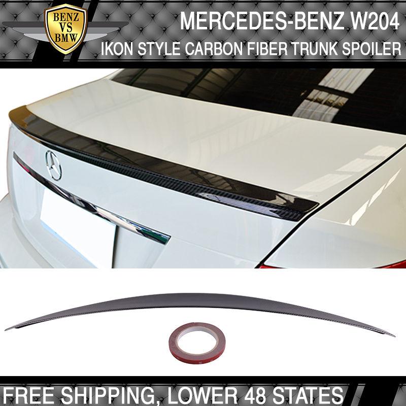 USパーツ USA株式08-14 CクラスW204 4DrセダンIKONスタイル炭素繊維トランク・スポイラーCF USA Stock 08-14 C-Class W204 4Dr Sedan IKON Style Carbon Fiber Trunk Spoiler CF