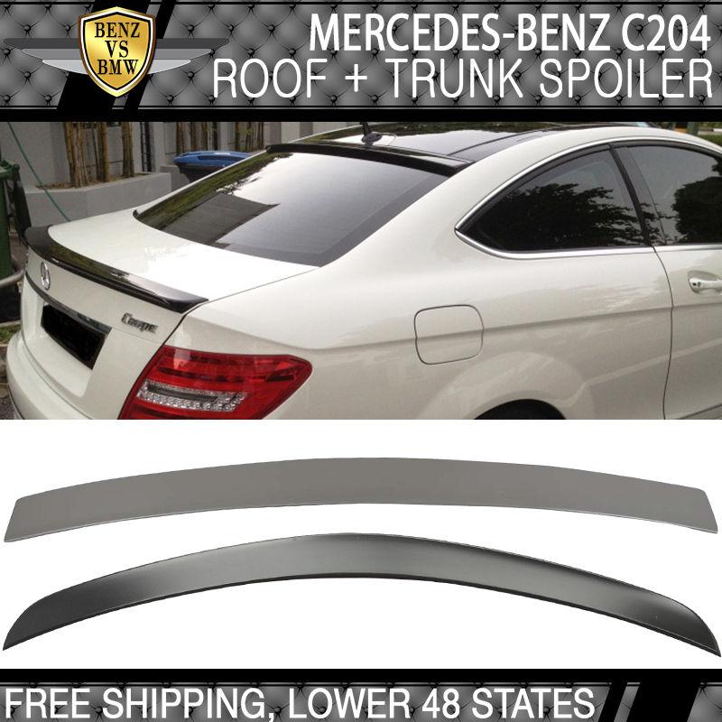 USパーツ 11-14メルセデス・ベンツC204 Cクラス2DrクーペAMGトランク& OEルーフスポイラーウイング 11-14 Mercedes-Benz C204 C-Class 2Dr Coupe AMG Trunk & OE Roof Spoiler Wing