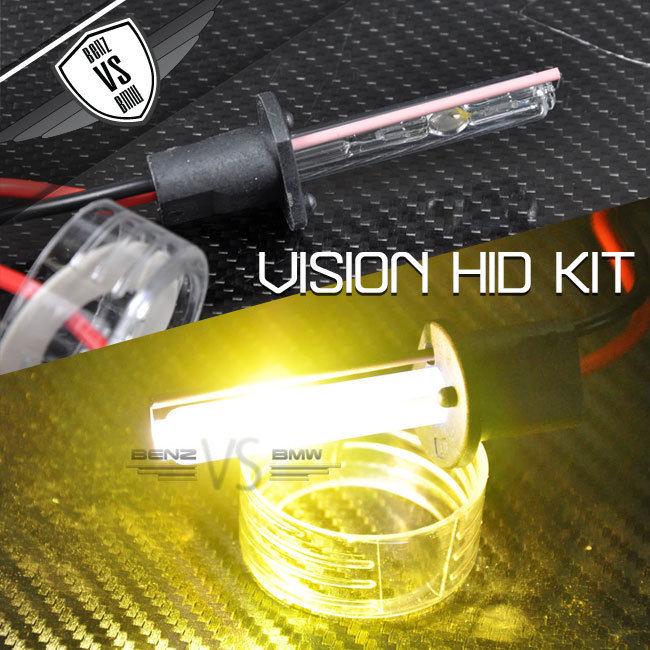 USパーツ ビジョンフォグライトキセノンHID H1 3000kゴールデンイエローアナログバラスト35ワット(ペア) Vision Fog Light Xenon HID H1 3000k Golden Yellow Analog Ballast 35watt(Pair)