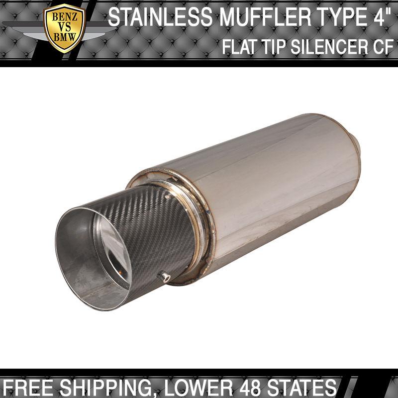 USパーツ 96-11トヨタRAV4ステンレススチールN1 4インチフラットカラーチップマフラーサイレンサー付き 96-11 Toyota RAV4 Stainless Steel N1 4 Inch Flat Color Tip Muffler With Silencer