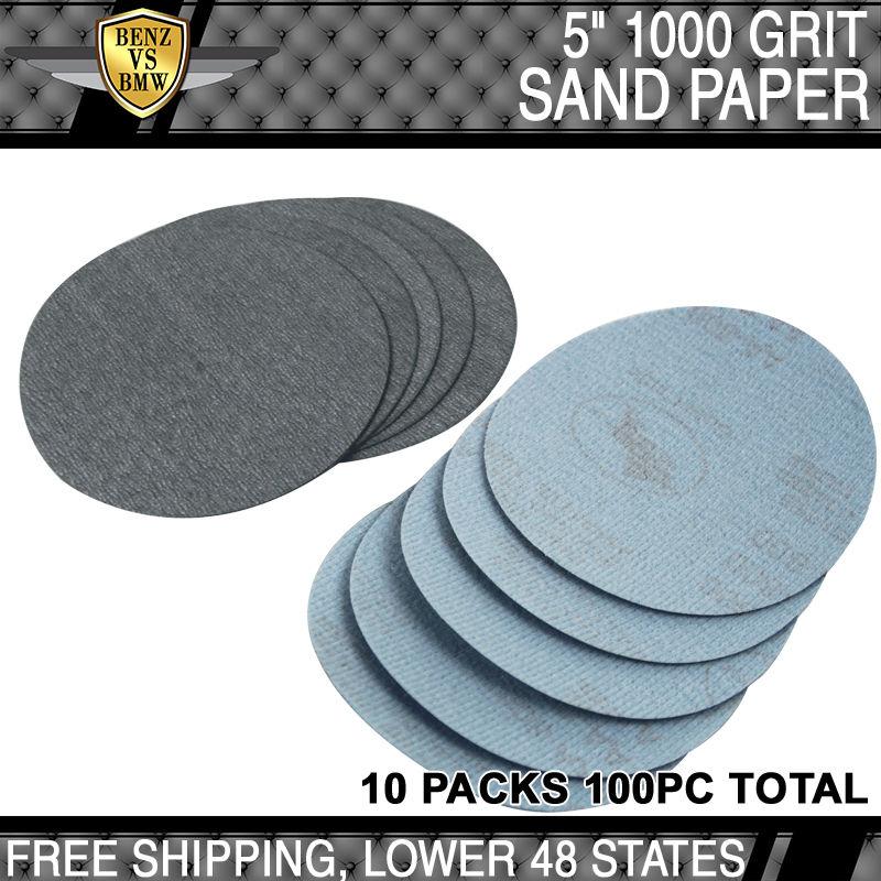 USパーツ 100PC 5インチドライ1000グリットオートサンディングディスク穴なしサンドペーパーシートサンドペーパー 100PC 5Inch Dry 1000 Grit Auto Sanding Disc No Hole Sandpaper Sheets Sand Paper