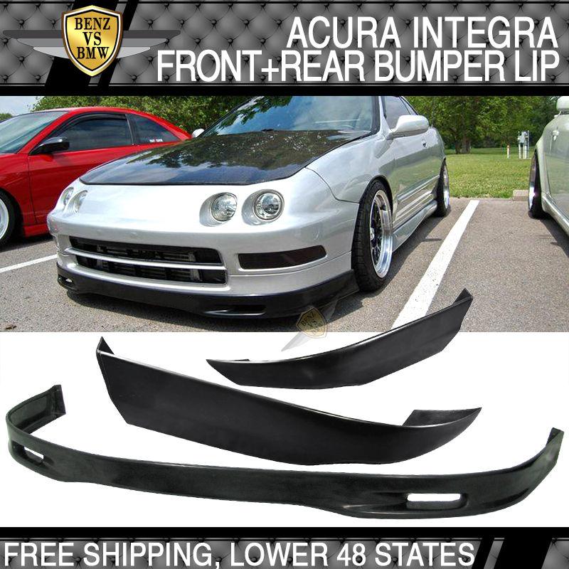 USパーツ アキュラインテグラ94-97スプーンウレタンフロントバンパーリップ& T-R ABSリアリップ Acura Integra 94-97 SPOON Urethane Front Bumper Lip & T-R ABS Rear Lip
