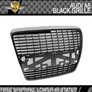 USパーツ 05-09アウディA6ブラックフロントグリルグリルセダン4Dr 05-09 Audi A6 Black Front Grill Grille Sedan 4Dr
