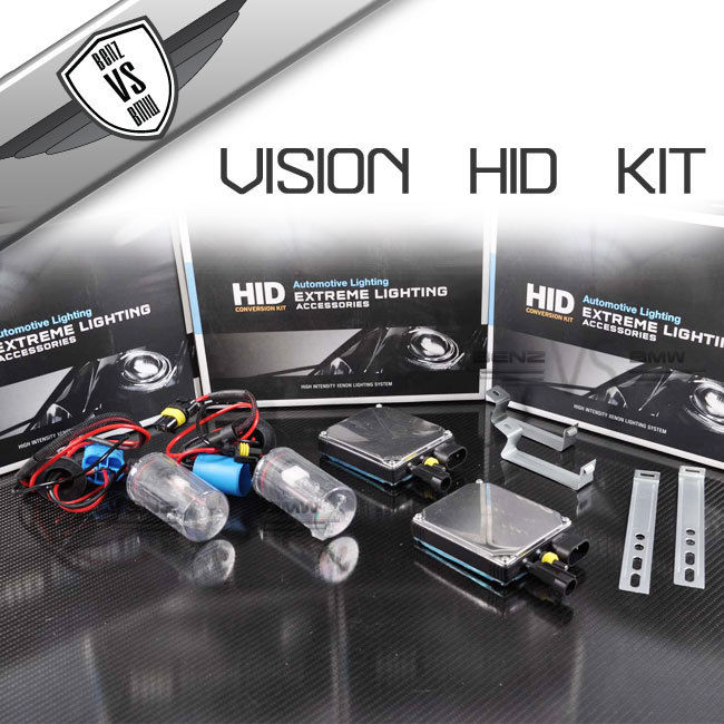 USパーツ ビジョンHID変換キット9007ハイロウ3000k 35wデジタルバラストインペア Vision HID Conversion Kit 9007 HI LOw High Low 3000k 35w Digital Ballast In Pair