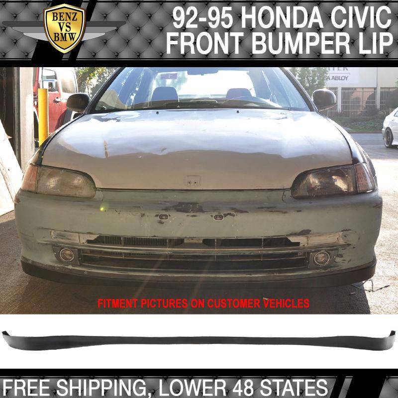 USパーツ フィット92-95ホンダシビッククーペ2 / 3Drs OEM SIRフロントバンパーリップポリウレタン Fit 92-95 Honda Civic Coupe 2/3Drs OE SIR Front Bumper Lip Poly Urethane