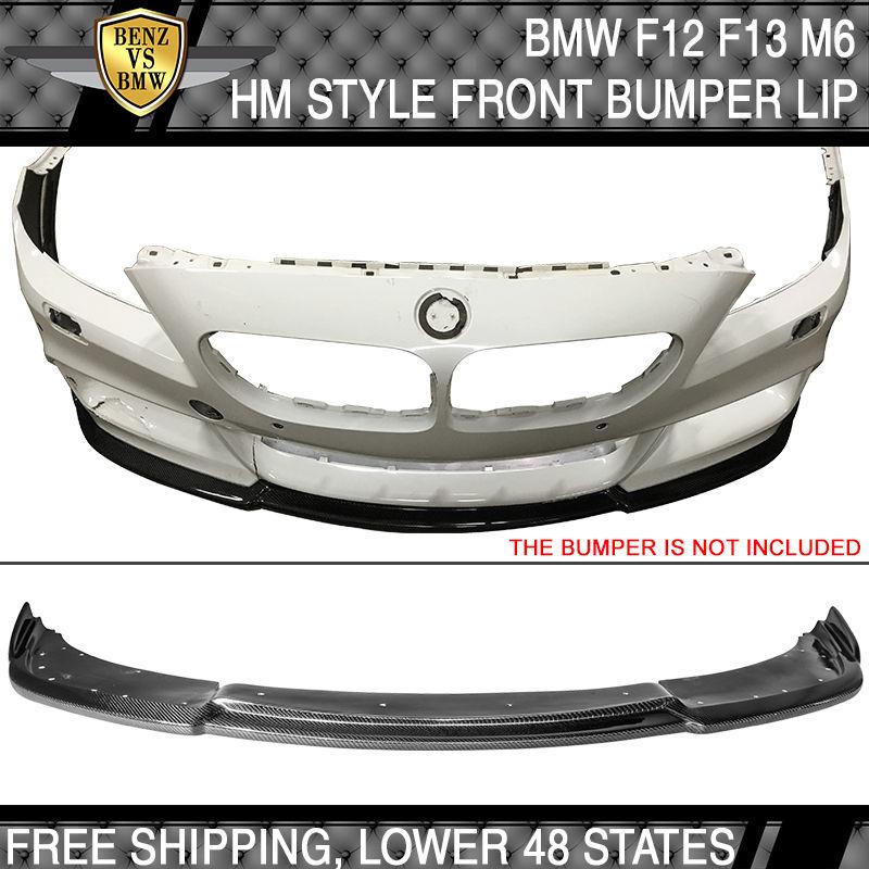 USパーツ 14-16 BMW F12 F13 F06 MスポーツのみHMスタイルフロントバンパーリップカーボンファイバーCF 14-16 BMW F12 F13 F06 M Sport Only HM Style Front Bumper Lip Carbon Fiber CF