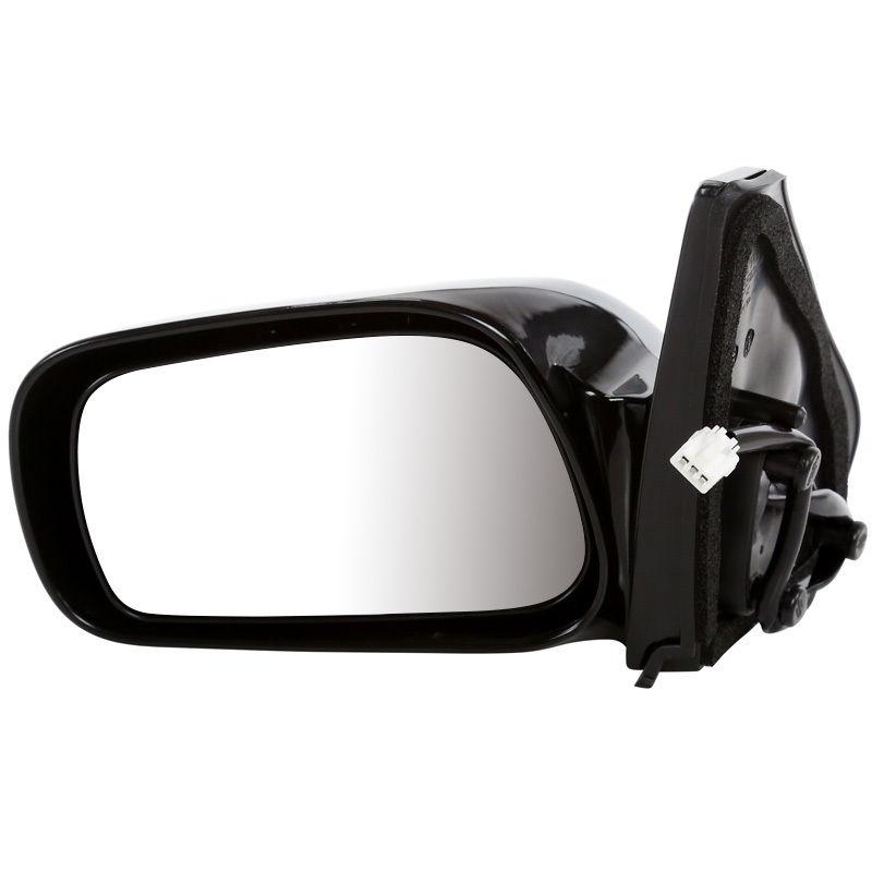USミラー 新しいパワーグロスブラック左ドライバサイドビューミラーは2003-2008年に合うバイブまたはマトリックス New Power Gloss Black Left Driver Side View Mirror fits 2003-2008 Vibe or Matrix