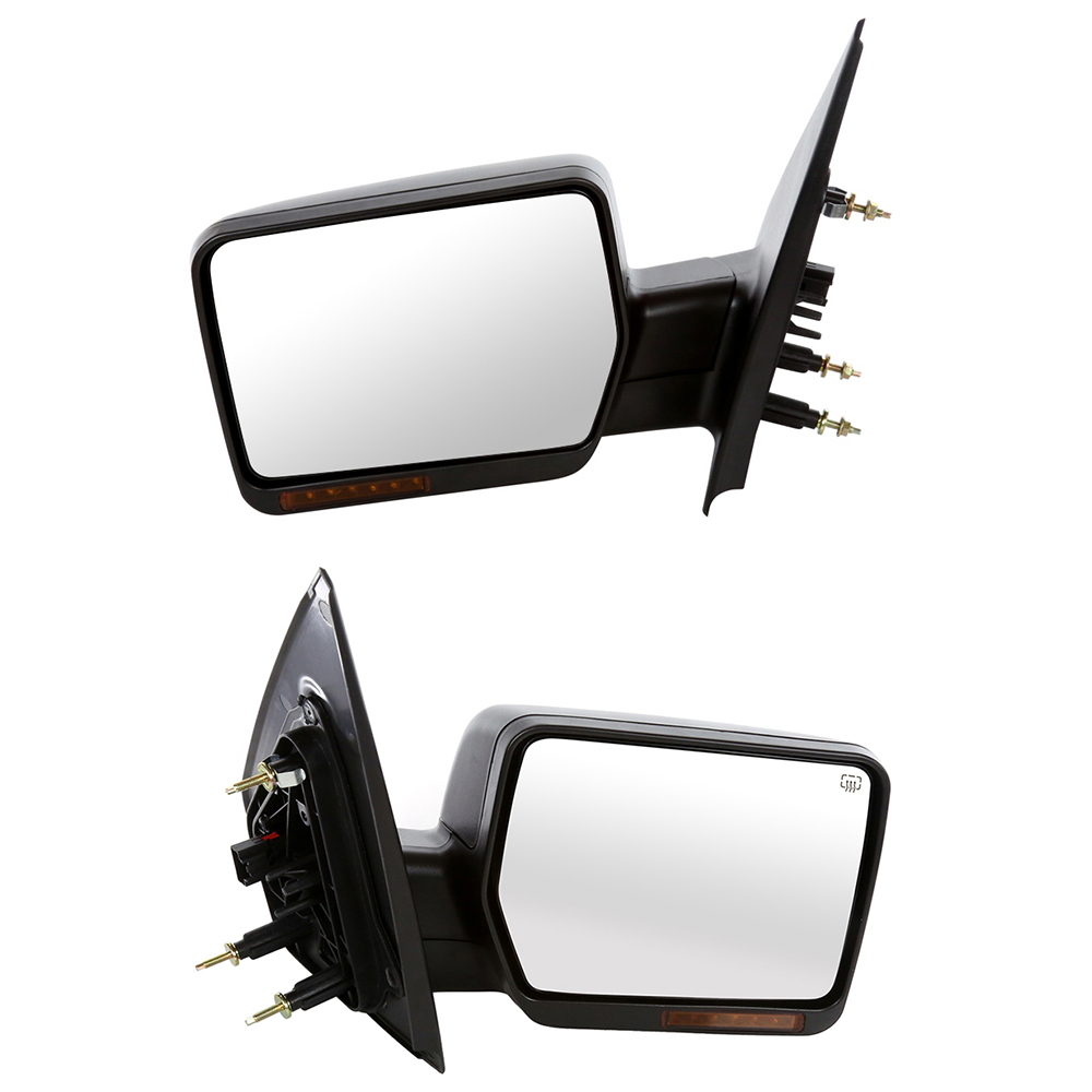 USミラー 04-08 Ford F150用のパワーヒートサイドミラーのフロントペア Front Pair of Power Heated Side Mirrors for a 04-08 Ford F150