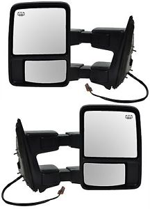 USミラー セット(2)ドライバー乗客パワー加熱信号ミラー08-15 Ford Superduty用 Set (2) Driver Passenger Power Heated Signal Mirrors For a 08-15 Ford Superduty