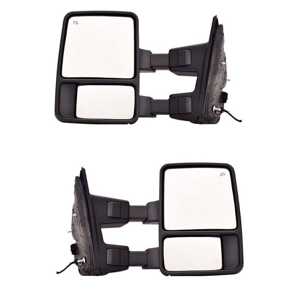 USミラー スモークシグナルを搭載したパワートーイングミラーペアは、2003?2015年のFord Super Duty Power Heated Towing Mirror Pair w/Smoked Signal fits 2003-2015 Ford Super Duty