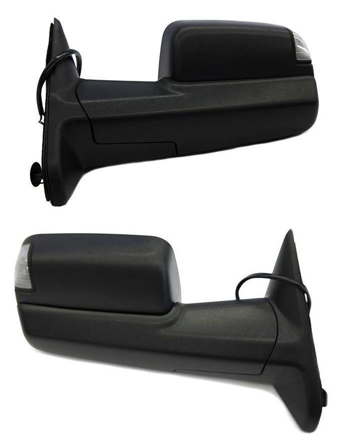 USミラー ダッジラム用パワーサイドミラーのフロントセット1500 2500 3500 /ライフタイム保証 Front Set of Power Side Mirrors for Dodge Ram 1500 2500 3500 w/Lifetime Warranty