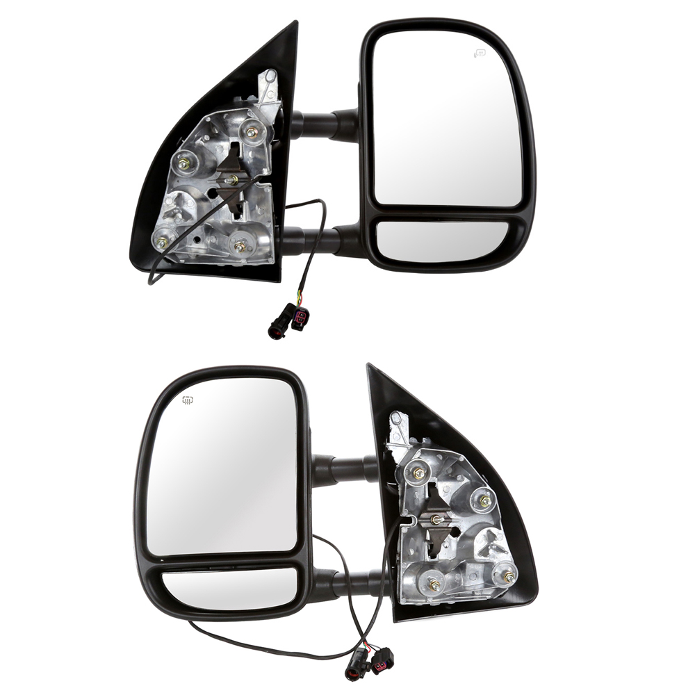 USミラー ペアのサイドミラーの99-04 Ford F250 F350 F450 F550 SD /ライフタイム保証 Pair of Side Mirrors for a 99-04 Ford F250 F350 F450 F550 SD w/Lifetime Warranty