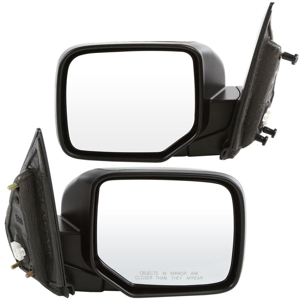 USミラー 新しい2つのパワーヒーティングブラックミラーLH& Hondaパイロットのライフタイム保証付きRH New 2 Power Heated Black Mirrors LH & RH for Honda Pilot With Lifetime Warranty