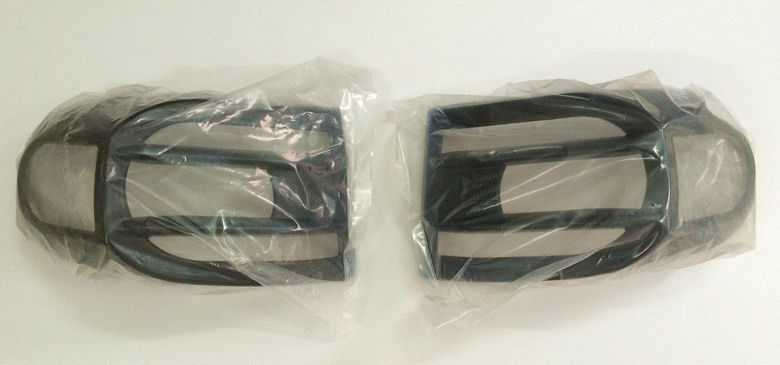 US ライトガード プロテクター 2007?14年トヨタFJクルーザー2 PCSブラックABSリアガードプロテクターカバー 2007-14 Toyota FJ Cruiser 2 PCS Black ABS Rear Light Guard Protector Covers