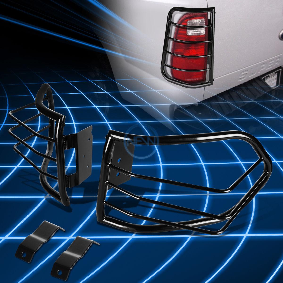 US ライトガード プロテクター トヨタFJクルーザーSUVをカバーするブラックスチールテールライトガードプロテクターカバー Black Steel Tail Light Guard Protector Cover for 2007-2014 Toyota FJ Cruiser SUV