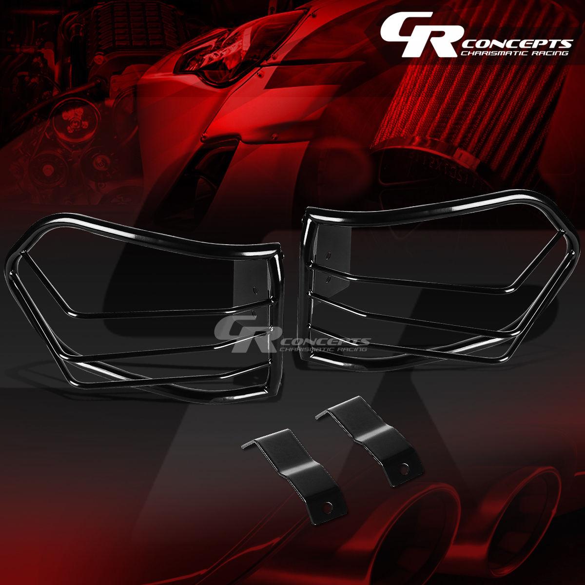US ライトガード プロテクター ペアブラックステンレステールライト/ランプガード+ 07-12 FJクルーザーSUVのマウント PAIR BLACK STAINLESS STEEL TAIL LIGHT/LAMP GUARD+MOUNT FOR 07-12 FJ CRUISER SUV