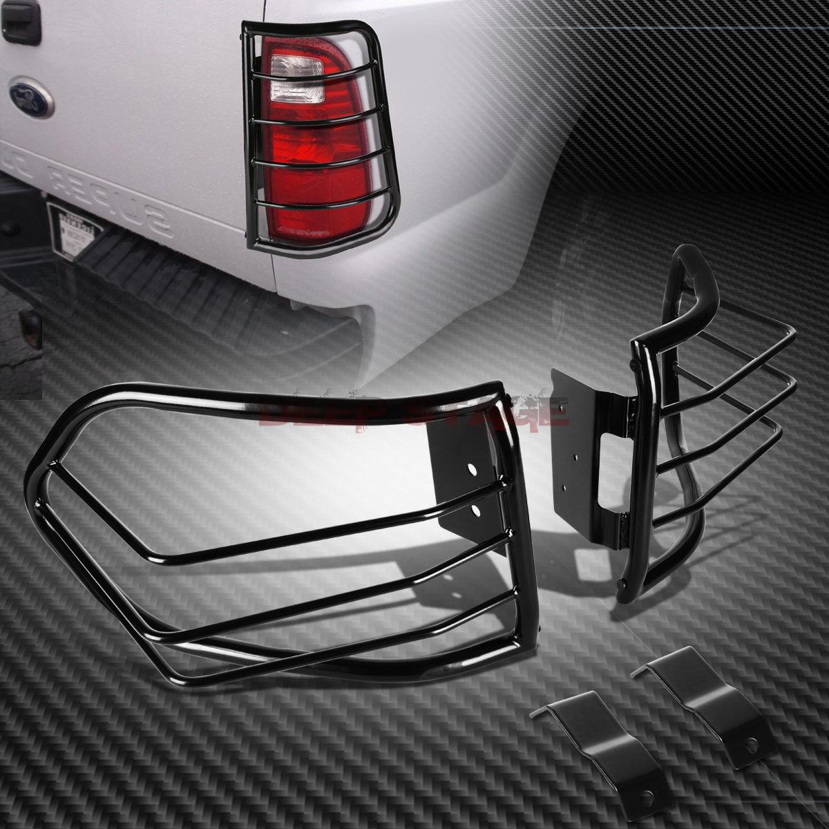 US ライトガード プロテクター ブラックスチールテールライト/ランプケージガードカバー+ 07-12 FJクルーザーSUV用マウントキット BLACK STEEL TAIL LIGHT/LAMP CAGE GUARD COVER+MOUNT KIT FOR 07-12 FJ CRUISER SUV