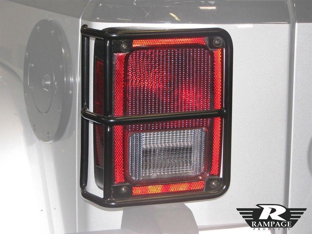US ライトガード プロテクター テールライトガードランペイジ88660フィット07-16ジープラングラー Tail Light Guard Rampage 88660 fits 07-16 Jeep Wrangler