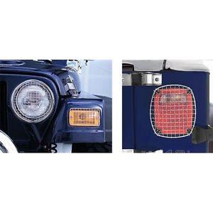 US ライトガード プロテクター 頑丈なリッジライトガードランプ6セットの新しいジープラングラー(TJ 11102.03 Rugged Ridge Light Guards Lamps Set of 6 New Jeep Wrangler (TJ 11102.03
