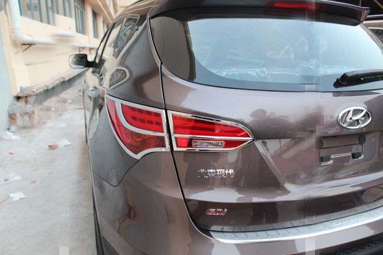 US ライトガード プロテクター ヒュンダイサンタフェスポーツ2013-2015のクロムテールライトリアガードトリムカバー chrome tail light rear Guards trim cover for hyundai Santa Fe sport 2013-2015