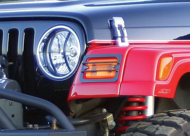 US ライトガード プロテクター Rampage 85660ユーロヘッドライトガードキット07-16ラングラー(JK) Rampage 85660 Euro Head Light Guard Kit Fits 07-16 Wrangler (JK)