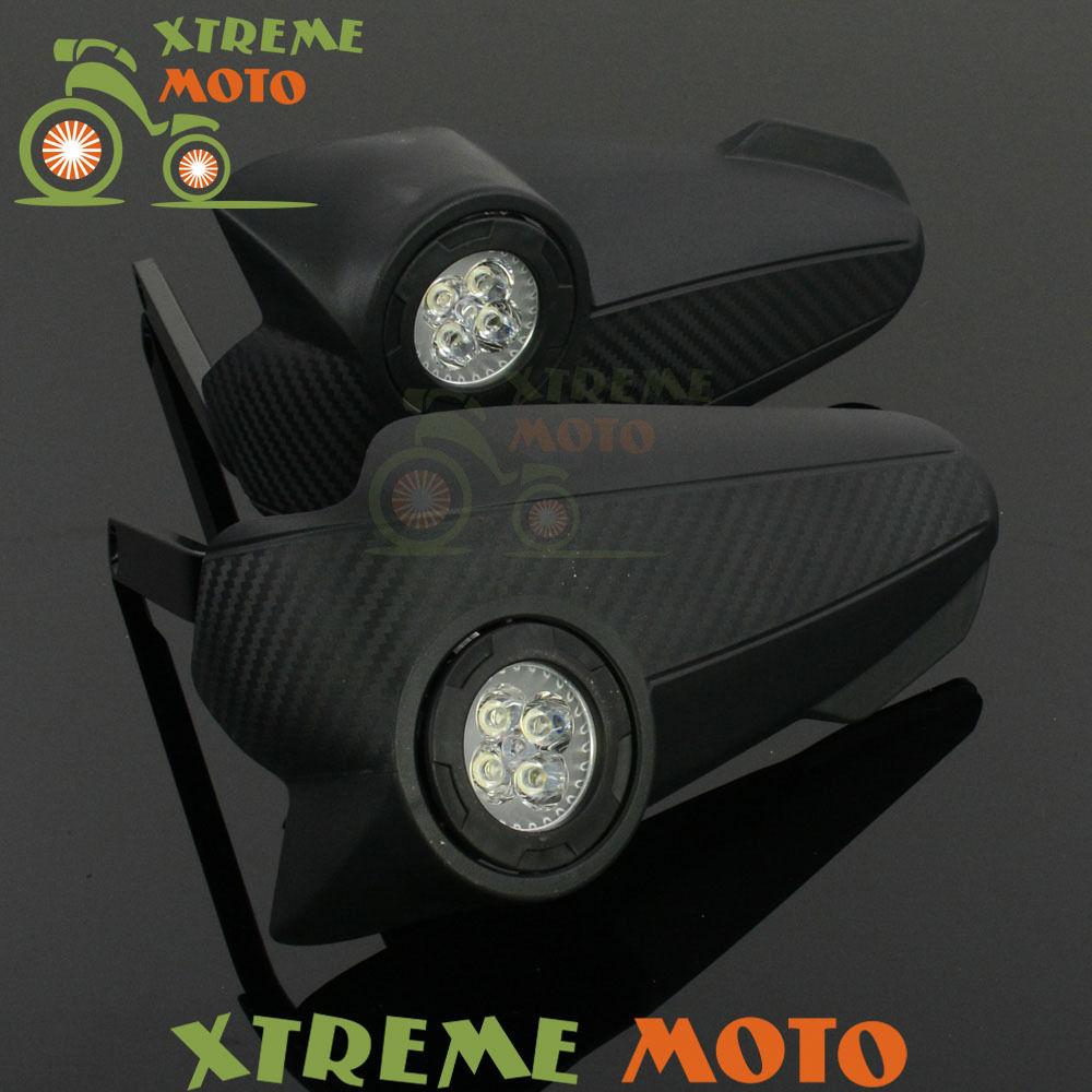 US ライトガード プロテクター ブラックLEDライトビジョンハンドガードハンドガードブラシバーSupermoto Motocross ATV Black LED Light Vision Handguards Hand Guards Brush Bar Supermoto Motocross ATV